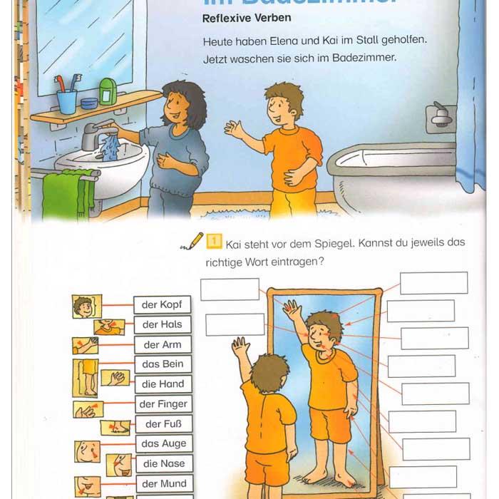 کتاب مصور آموزش مبتدی زبان آلمانی - Spielerisch Deutsch lernen. Wortschatzerweiterung und Grammatik