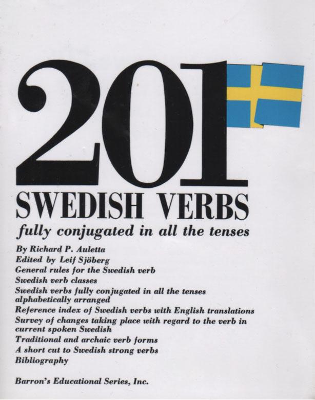 کتاب صرف 201 فعل سوئدی در تمام وجه ها و زمان ها