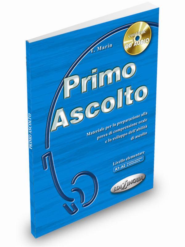 کتاب آموزش ایتالیایی Primo Ascolto A1-A2 به همراه فایل های صوتی