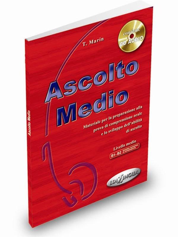 کتاب آموزش ایتالیایی Ascolto Medio B1-B2 به همراه فایل های صوتی