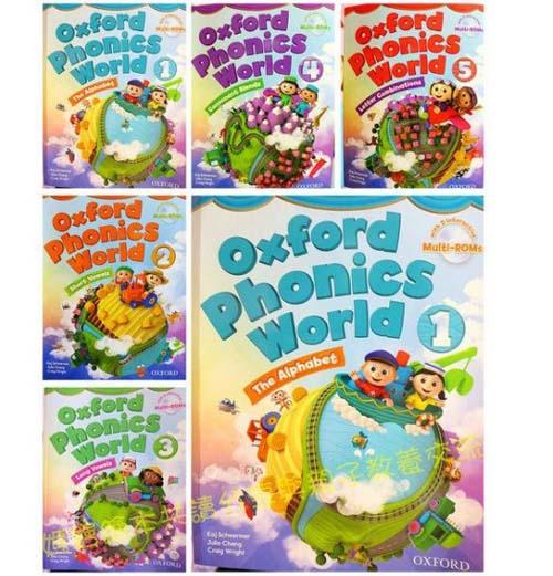 مجموعه کتاب های 5 جلدی آموزش زبان انگلیسی برای کودکان و خرد سالان Oxford Phonics World