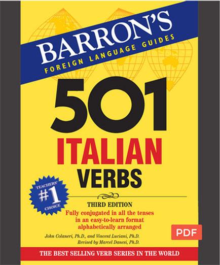 کتاب 501 فعل ایتالیایی. صرف افعال به همراه مثال