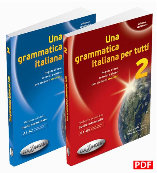 کتاب های گرامر زبان ایتالیایی una grammatica italiana per tutti