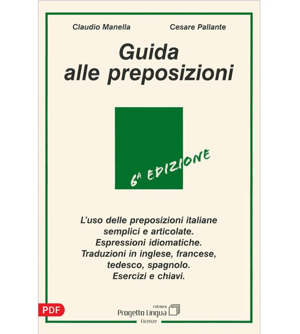 کتاب Guida alle preposizioni راهنمای حروف اضافه در زبان ایتالیایی