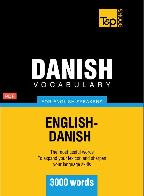 کتاب لغت نامه زبان دانمارکی Danish vocabulary