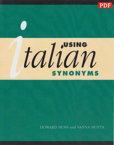کتاب دیکشنری کلمات مترادف ایتالیایی Using Italian Synonyms
