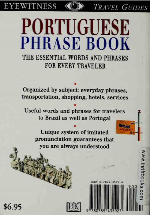 کتاب Portuguese phrase book