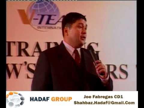 سخنرانی اقای جو فابریگاس با عنوان هشت دلیل شکست در بازار یابی شبکه ایی