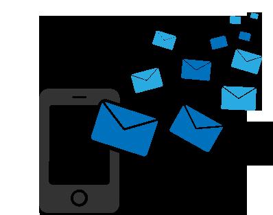 دریافت پیام های دیگران در گوشی شما