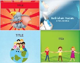 مجموعه 5 تم کودکانه برای پاورپوینت  بسیار زیبا و کاربردی