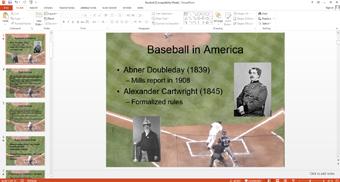 ورزش بیس بال به زبان انگلیسی