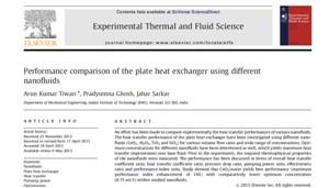 مقایسه عملکرد مبدل حرارتی صفحه ای با نانو سیال های مختلف