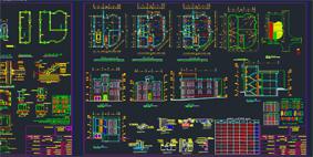 سی عدد پروژه کامل مسکونی طراحی فنی فاز2 کامل به همراه دیتیل.پلان ها.نما.برش فاز2ی