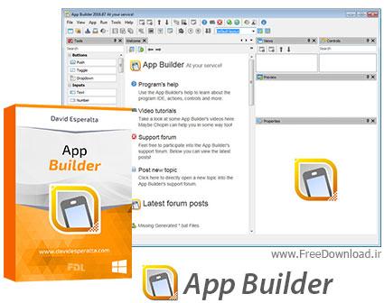 نرم افزار ساخت اپلیکیشن های HTML5 و موبایل - App Builder 2016.160