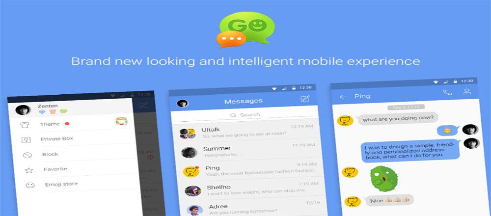 دانلود GO SMS Pro Premium 7.12 – گو اس ام اس آندروید + پکیج پلاگین و زبان ها + تم ها + فونت ها + استیکرها
