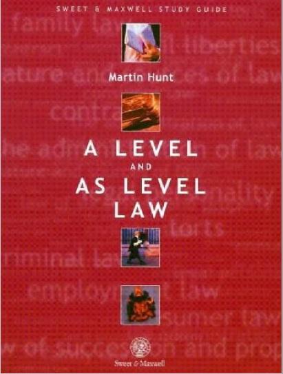 دانلود کتاب متون حقوقی مارتین هانت به زبان انگلیسی A Level and AS Level Law
