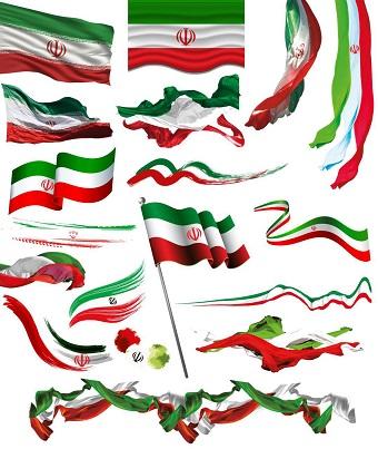 دانلود مجموعه تصاویر با کیفیت پرچم ایران بدون پس زمینه