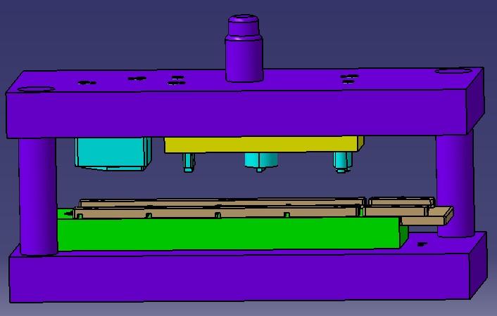 طراحی و مدلسازی قالب پرس ۴ مرحله ای در CATIA