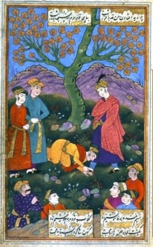 دانلود نسخه خطی نفیس و نایاب مثنوی عاشقانه سوز و گداز با مینیاتورها و تذهیبهای رنگی بسیار زیبا مکتوب در 1068 قمری