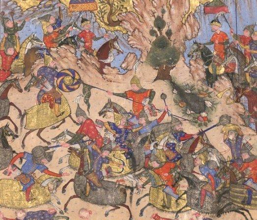 دانلود نسخه خطی  و نایاب شاهنامه فردوسی با بیش از دویست مینیاتور رنگی از دوره سلطان ابراهیم میرزا