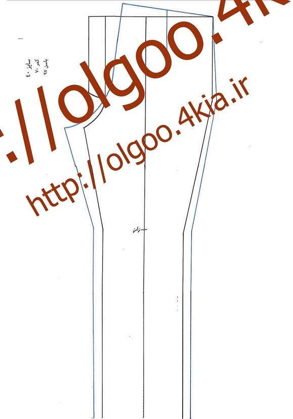 الگو شلوار سایز 40