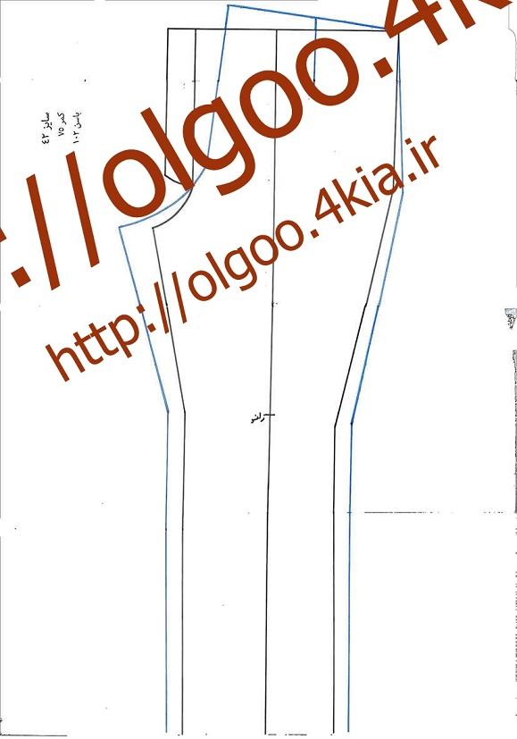 الگو شلوار سایز 42