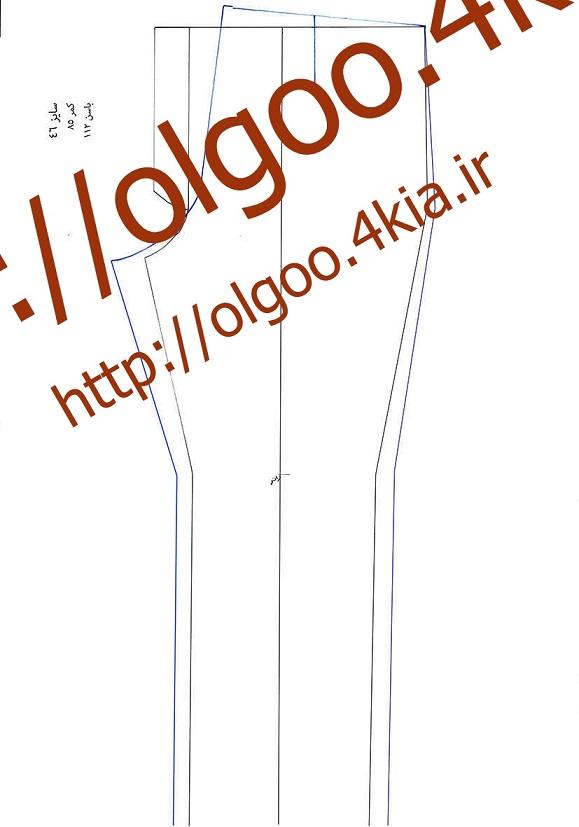 الگو شلوار سایز 46