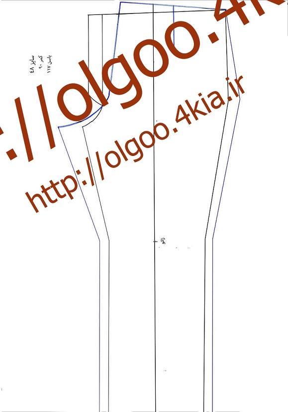 الگو شلوار سایز 48