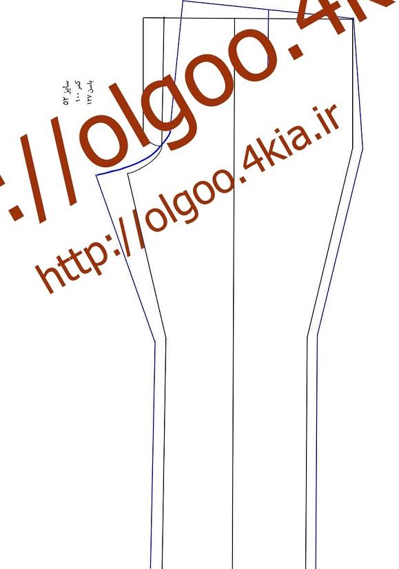 الگو شلوار سایز 52