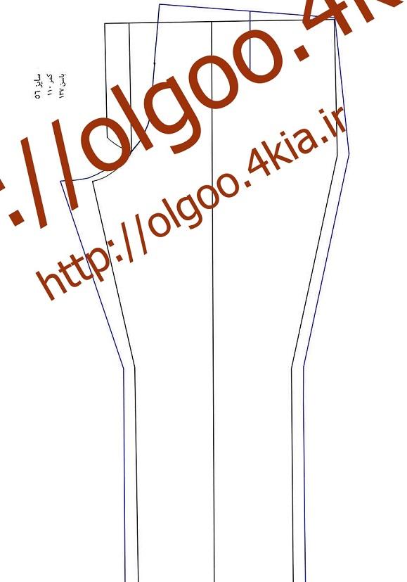 الگو شلوار سایز 56