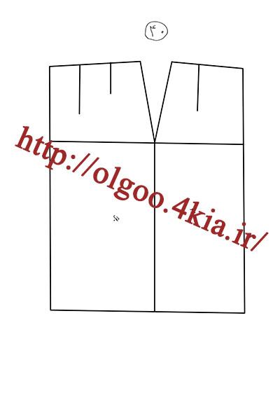 الگوی پایه دامن سایز 40
