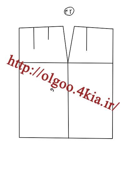 الگوی پایه دامن سایز 42