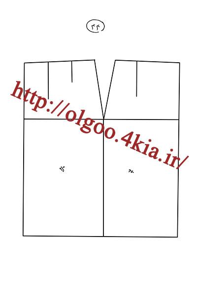 الگوی پایه دامن سایز 44