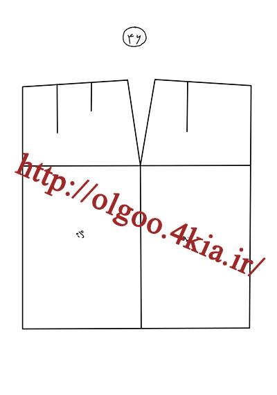 الگوی پایه دامن سایز 46