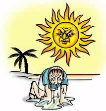 دانلود پاورپوینت گرمازدگی در فصل تابستان، پیشگیری و درمان آن