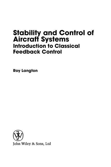 Stability and Control of Aircraft Systems