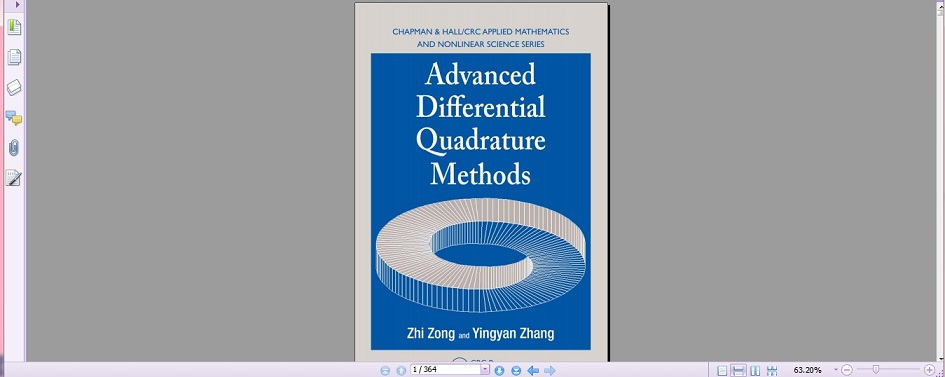 دانلود کتاب  Advanced Differential Quadrature Methods   تالیف Zhi Zong, Yingyan Zhang