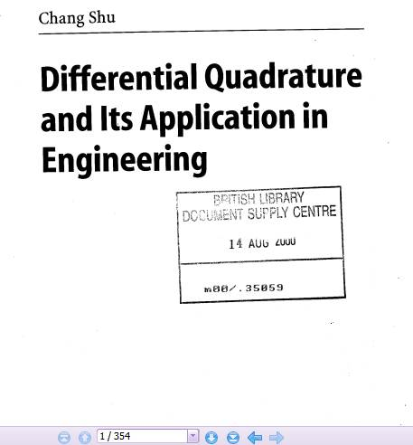 کتاب Differential Quadrature and Its Application in Engineering تالیف chang shu
