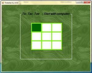 TIC TAC TOE پروژه دوز با #C + هوش مصنوعی