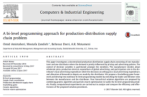 A bi-level programming approach for production-distribution supply chain problem