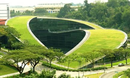دانلود پاورپوینت معماری سبز مدرسه هنر سنگاپور