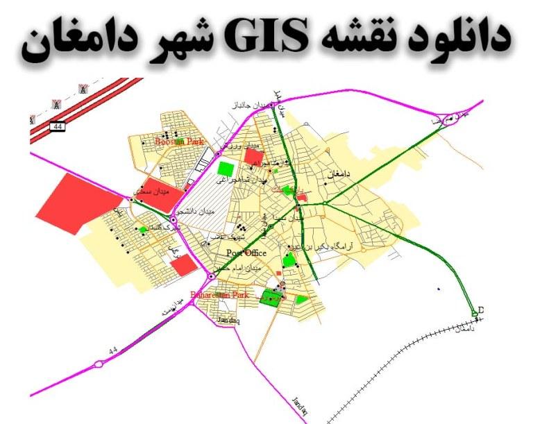 دانلود نقشه GIS شهر دامغان