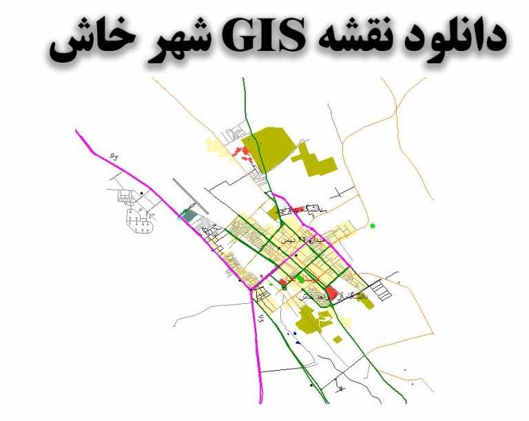 دانلود نقشه GIS شهر خاش