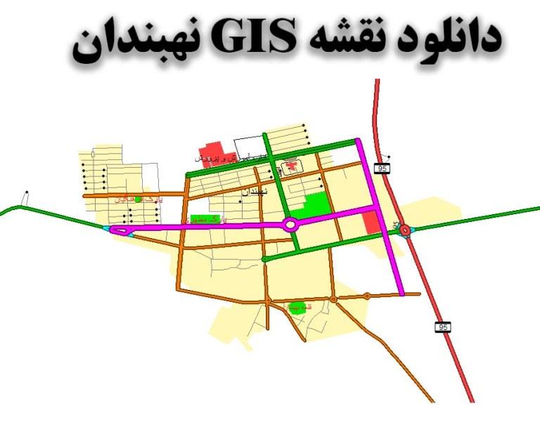 دانلود نقشه GIS شهر نهبندان
