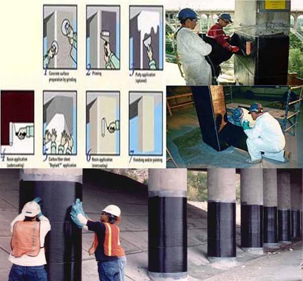 دانلود پاورپوینت استفاده از کامپوزیتهای FRP در ساخت، بهسازی و تقویت سازهها
