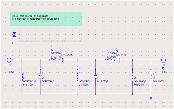 طراحی فیلتر Chebyshev band pass  با محدوده فرکانسی (2GHZ-8GHZ)