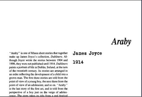 نقد داستان كوتاه عربي اثر جيمز جويس Araby is a short story by James Joyce