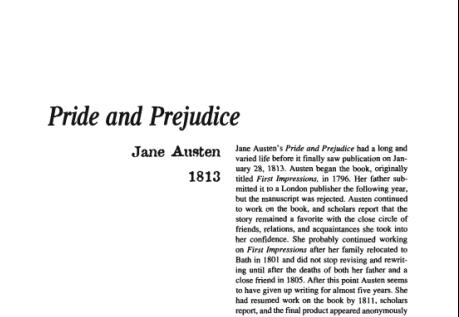 نقد رمان Pride and Prejudice by Jane Austen