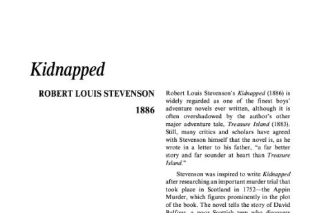 نقد رمان آدم ربايى اثر رابرت لویی استیونسن Kidnapped by Robert Louis Stevenson