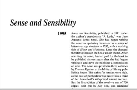 نقد رمان عقل و احساس اثر جین آستین Sense and Sensibility by Jane Austen